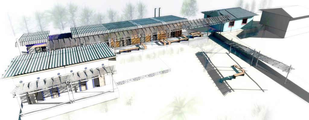 Planos del orfanato Bamba por Erik Jorgensen Roca