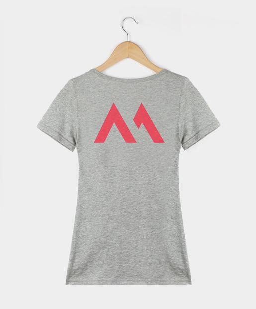 Camiseta Bamba - Mujer, gris